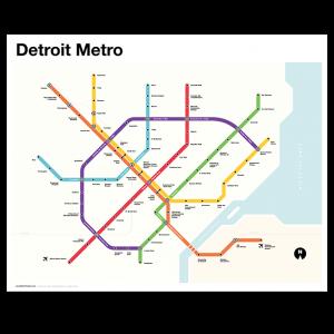 Detroit Metro Map