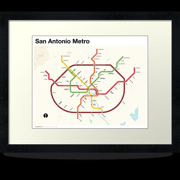 San Antonio Metro Map