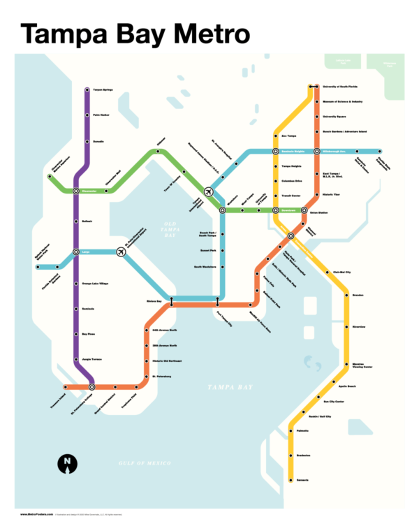 Tampa Bay Metro Map
