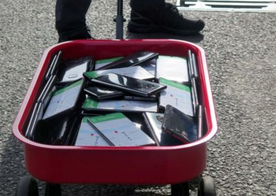 Want to reduce traffic on your street? Try a wagon full of smart phones.