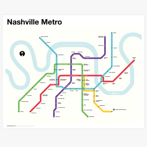 Nashville Metro Map