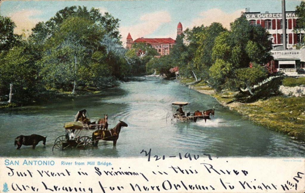 San Antonio River from Mill Bridge
