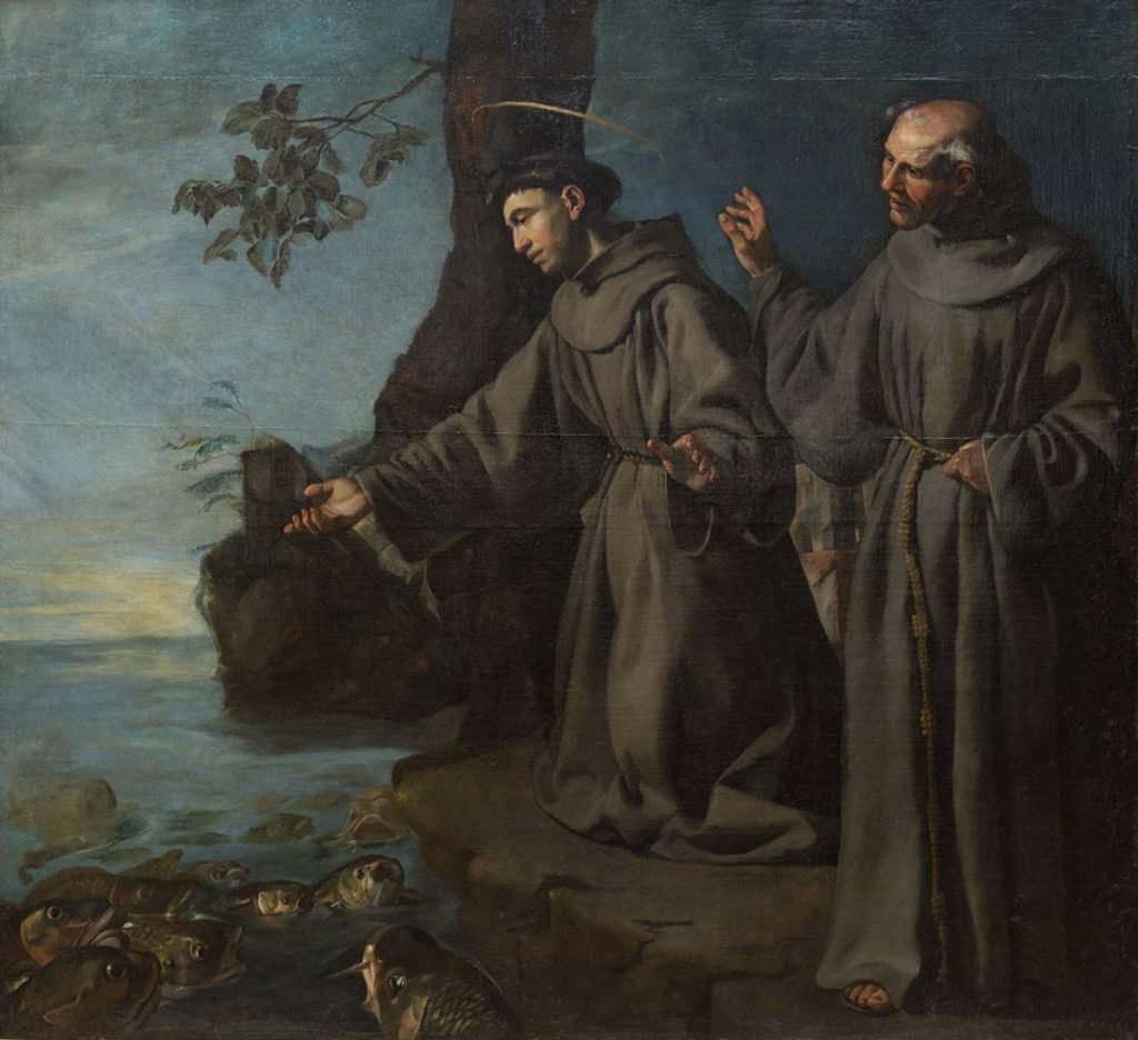 St. Anthony Preaching to the Fishes (c.1630). Attributed to Francisco de Herrera the Elder [IMAGE: Detroit Institute of Arts]