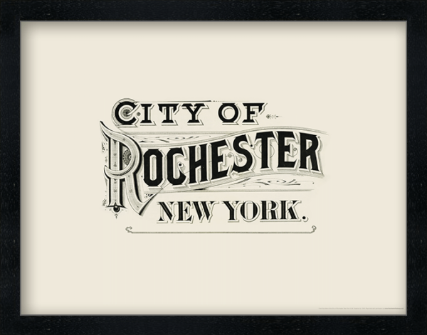 City of Rochester, New York (Atlas Typography) Poster