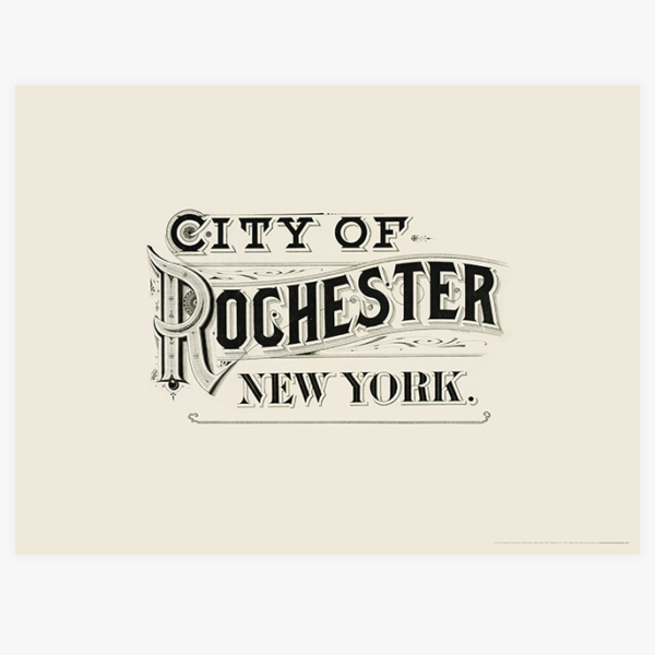 City of Rochester, New York (Atlas Typography)