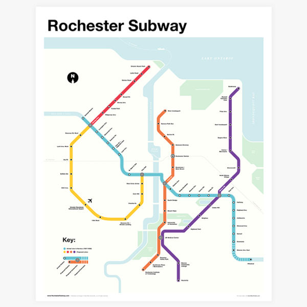 Rochester Subway Map