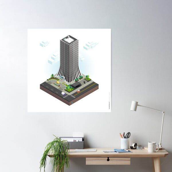 City Blocks: The Metropolitan Building (Rochester, NY) Poster