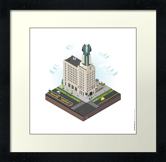 City Blocks: Times Square Building (Rochester, NY) Poster