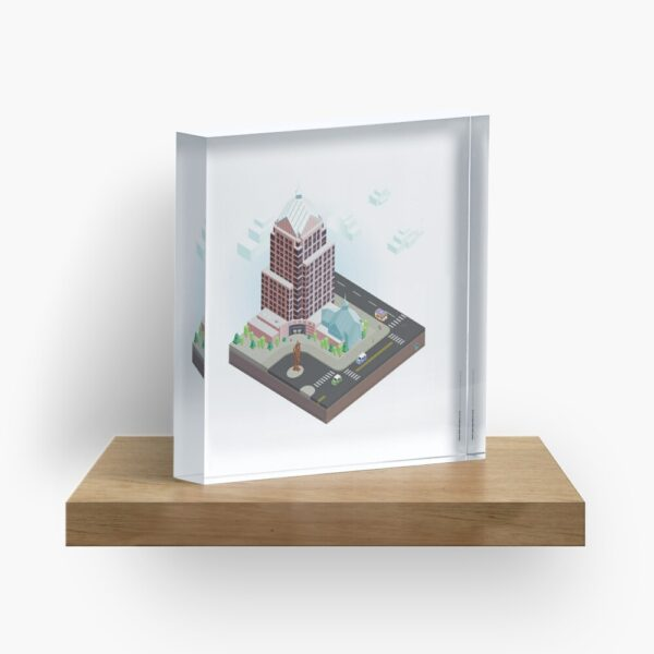 City Blocks: Legacy Tower (Rochester, NY) Acrylic Block