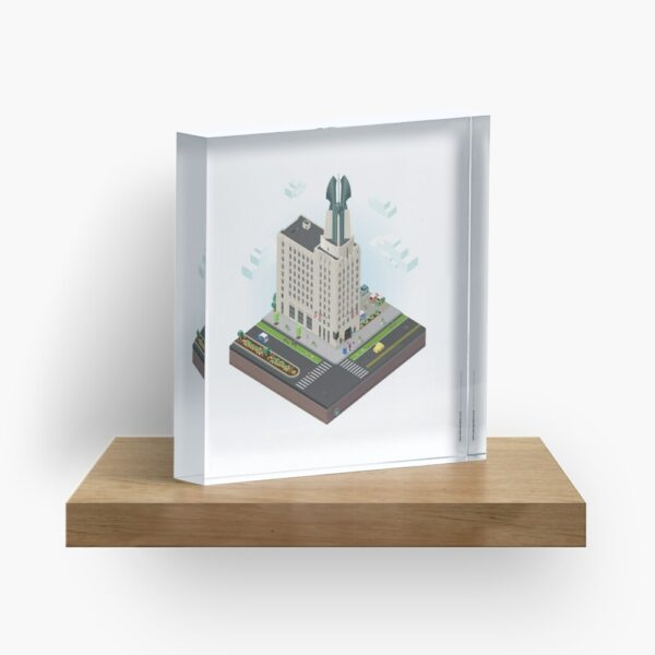City Blocks: Times Square Building (Rochester, NY) Acrylic Block