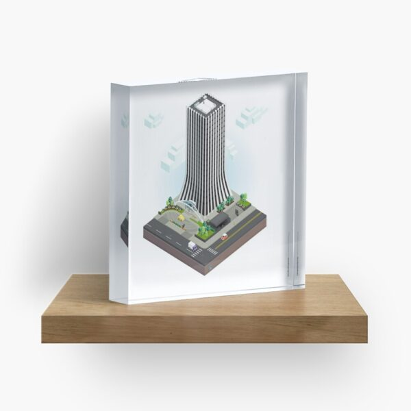 City Blocks: The Metropolitan Building (Rochester, NY) Acrylic Block