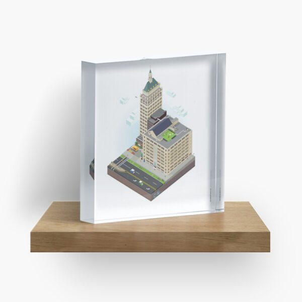 City Blocks: Kodak Tower (Rochester, NY) Acrylic Block