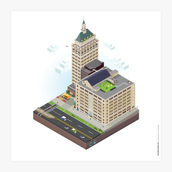 City Blocks: Kodak Tower (Rochester, NY) Poster